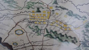 Map of the Cape Peninsula 17th century (close up of the Stellenbosch region). Western Cape Archives and Records Service M1/273