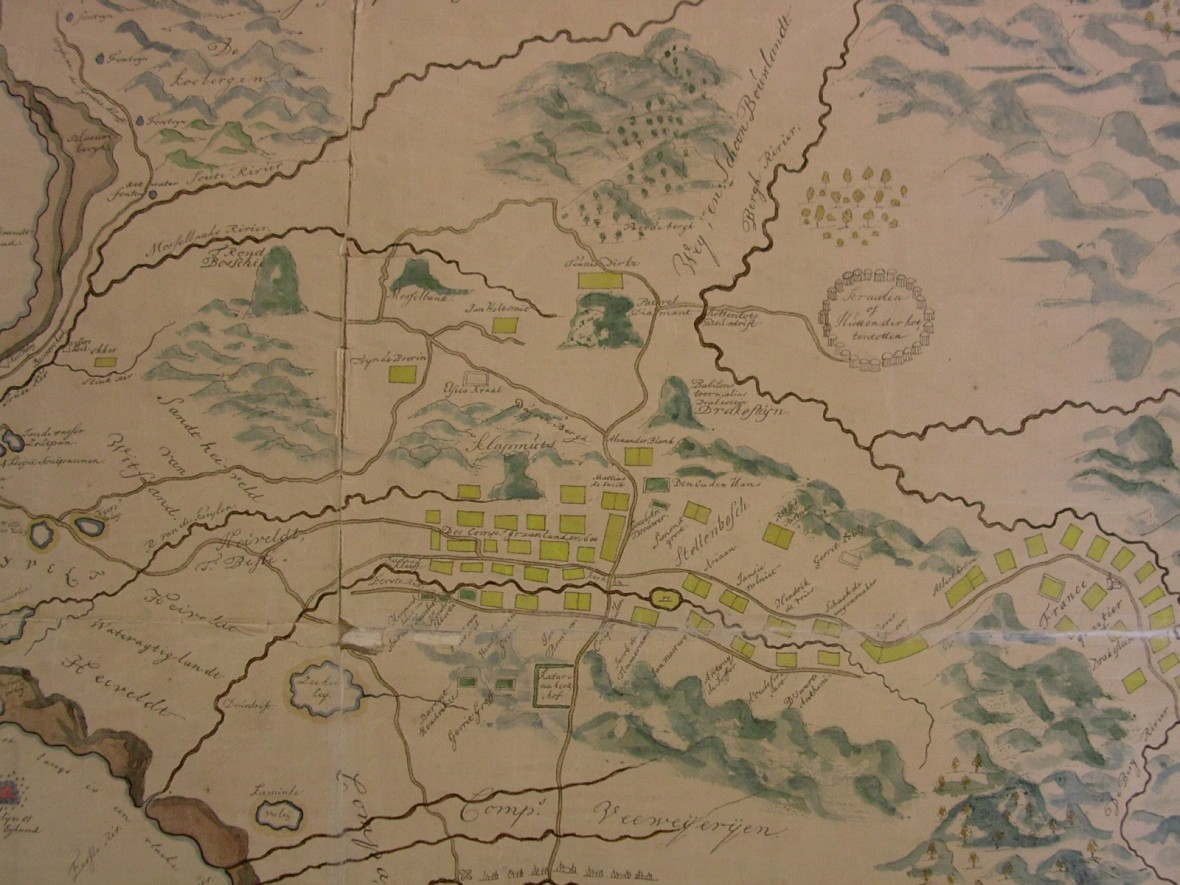 Map of the Cape Peninsula 17th century. Western Cape Archives and Records Service M1/273