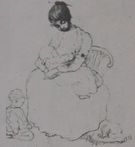 'Slave woman suckling a child' by Lady Anne Barnard. National Library of South Africa.
