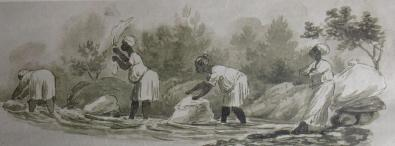 Malay Washerwomen by Charles Bell. Brenthurst Library. Charles Bell Conservation Trust.